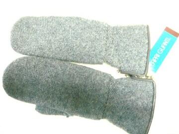 カプリガンティニット手袋ミトンウール二重ラビット