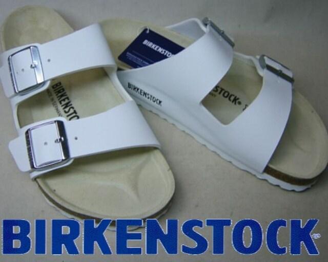 ビルケンシュトック新品アリゾナARIZONA051733ホワイト36  < 女性ファッションの