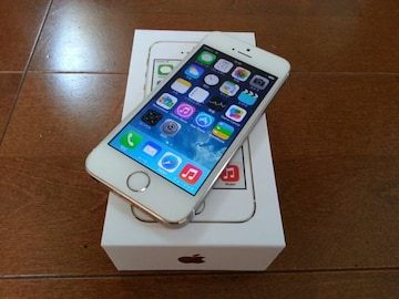 即落/即発!!美中古品 iPhone 5s 32GB ゴールド 一括支払い済み