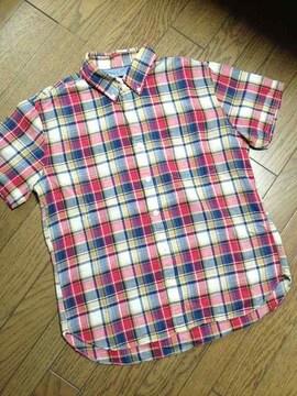 美品And A チェックシャツ 日本製 アンドエー