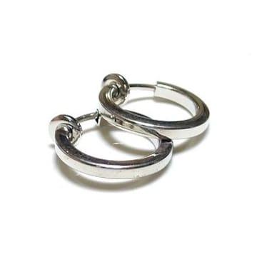 フープイヤリング 角■銀 16mm径