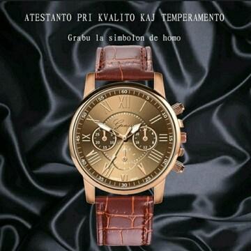 新品 腕時計  メンズ  高級感 茶色