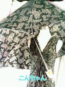 〓薔薇柄&レース〓晴雨兼用〓折り畳み式傘〓
