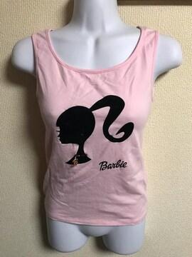 ★Barbie ピンク×チャーム付ノースリトップス  M★