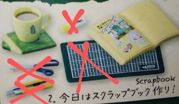 リーメントぷちサンプルシリーズえんぴつカフェ2.今日はスクラップブック作り欠品有り