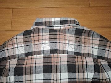 グッドイナフGOODENOUGH 背ロゴ チェックシャツM 刺繍ステッチ