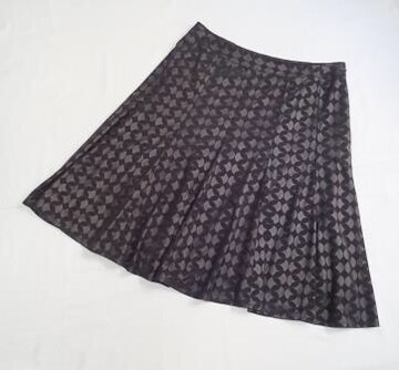 ◆nextネクスト◆日本製 丸柄 フレアスカート/ブラック/サイズ12