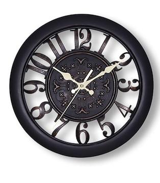 北欧風 掛け時計 レトロ アンティーク調 (黒)
