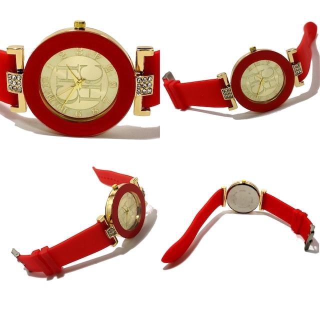 【新品・未使用】CH【ジルコニア】大型 ユニセックス 腕時計 < 女性アクセサリー/時計の