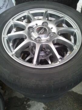155/65R13タイヤ軽量アルミホイール4本4穴PCD100軽自動車1本2500円