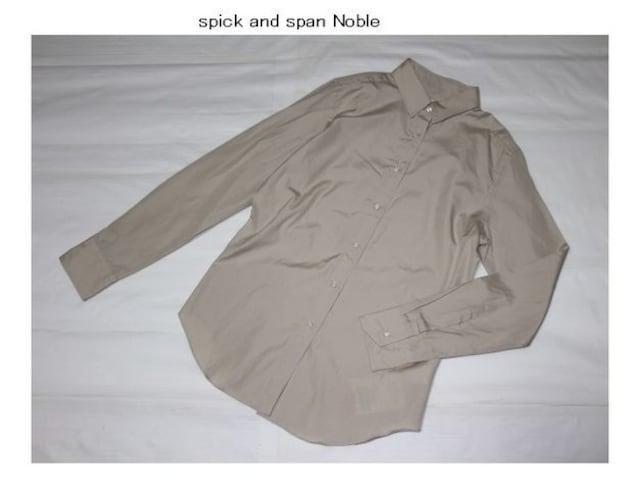 スピックアンドスパン*Spick and span Noble★綿ブロードレギュラーシャツ/新品  < ブランドの