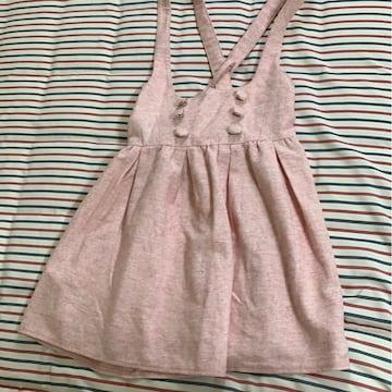used リズリサ   サイズM ピンク ジャンパースカート