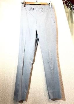 TAKEO KIKUCHI■スラックス■ノータック■タケオキクチ■薄青