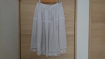マジェスティックレゴン 水玉ギャザースカート・新品同様
