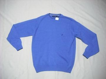 42 男 NAUTICA ノーティカ 青 セーター XS