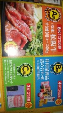 松阪牛すき焼き用ロース600g当たる!2口