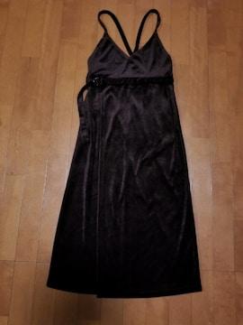 ◆ベロア巻きジャンパースカート◆BR◆