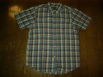 STUSSYステューシーチェックシャツL半袖