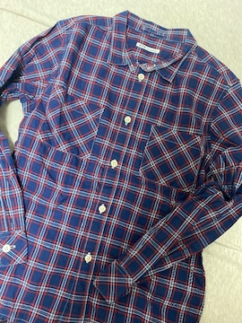 ★FITHフィス長袖チェックシャツ140デニム&ダンガリー★