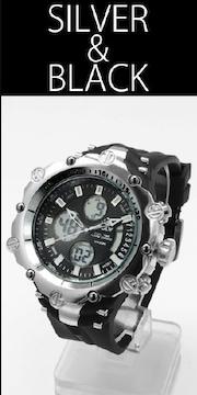 NEW★アナログ&デジタル・ビッグフェイス腕時計MB2SB