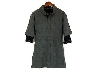 リアルレイヤードブロックチェックポロシャツM新品c※2点送料無料