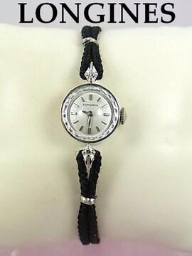 正規品☆ロンジン 14KWG アンティーク 手巻き時計 仕上済み★dot