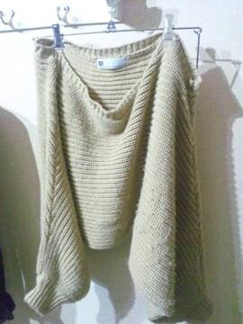 スライ 変形 羽織りニット
