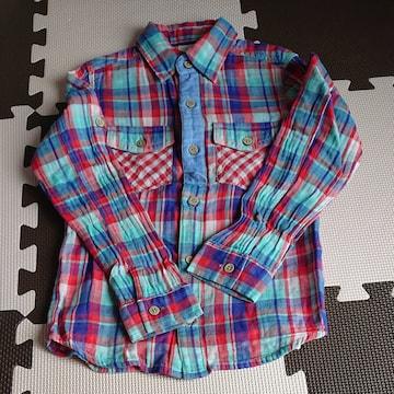 チェックシャツ 120cm