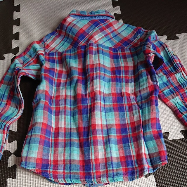 チェックシャツ 120cm < キッズ/ベビーの