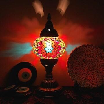 モザイクランプ 照明インテリア ガラス トルコランプ