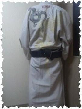 ☆新品[絡繰魂]昇龍 刺繍 簡易帯付 本格浴衣 スカジャン好きにも