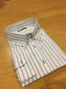MARIO ESPERANZA ビジネスストライプYシャツ  size7LB  3XL  1