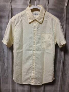 CHLORO クロロ 無地 半袖シャツ Sサイズ36 アイボリー 白 ベージュ 日本製
