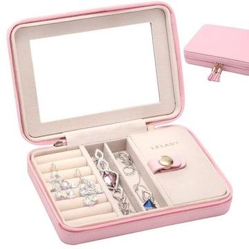 アクセサリーケース 携帯用 ピンク
