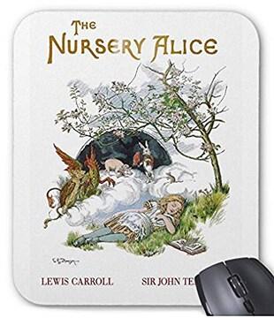 『 子供部屋のアリス 』の表紙絵のマウスパッド