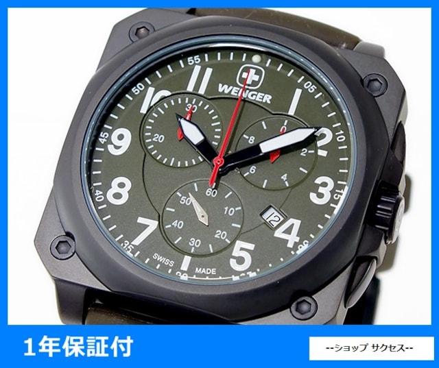 新品■ウェンガー エアログラフ コックピットクロノ腕時計 77011  < ブランドの