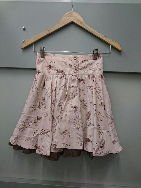 Ank  Rouge☆総柄ハイウエストスカート  < ブランドの