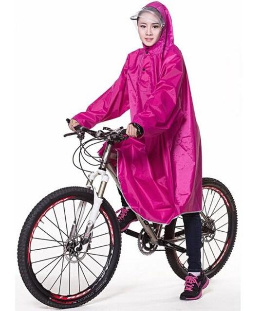 レインコート 自転車 バイク ロング ポンチョ 男女兼用 ローズ  < 男性ファッションの