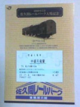 佐久間レールパーク入場記念09・7