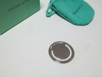 正規新古激レア TIFFANY ティファニー オーバル型 円形 マネークリップ シルバー925