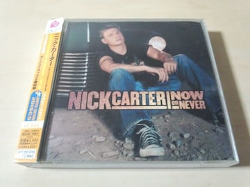 ニック・カーターCD+DVD「NOW OR NEVER」NICK CARTER初回DVD付★