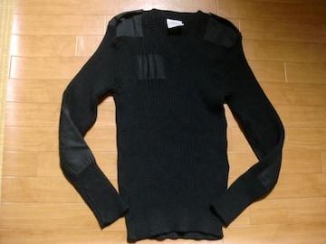 イングランド製 ウーリープーリー コマンドセーター 黒 L