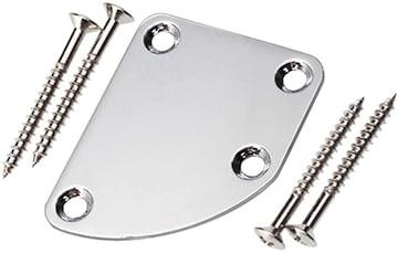 Yibuy クロム 非対称 ギターネックプレート For Guitar ETC 楽器