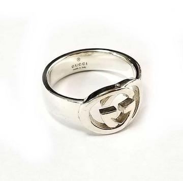 正規グッチリンング指輪GGSV925シルバー15インターロ