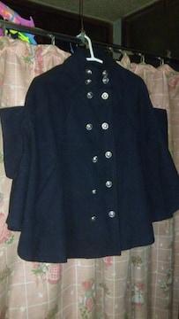ナポレオン ポンチョコートブラック、黒!フリーサイズ