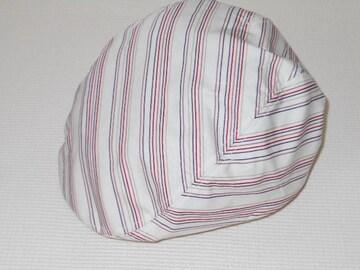 帽子★PiPPiN★ストライプハンチング 赤ライン★フリーサイズ
