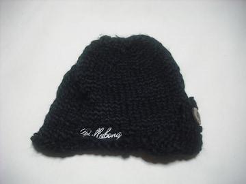 wb360 女 BILLABONG ビラボン ニット帽 黒