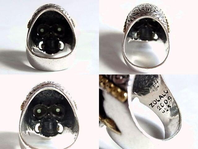 ソカロZOCALOチベタン スカル リング指輪24号 < ブランドの