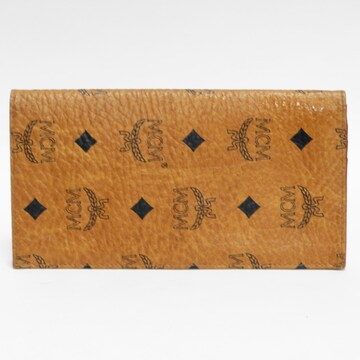 MCM 二つ折り長財布 キャメル ロゴ柄 商品 正規品