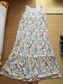 ディズニー・プリンセス柄マキシ丈タンクワンピース